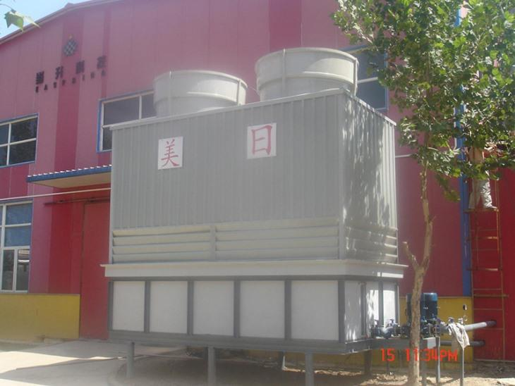 Square counterflow cooling tower