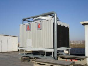 Square crossflow cooling tower